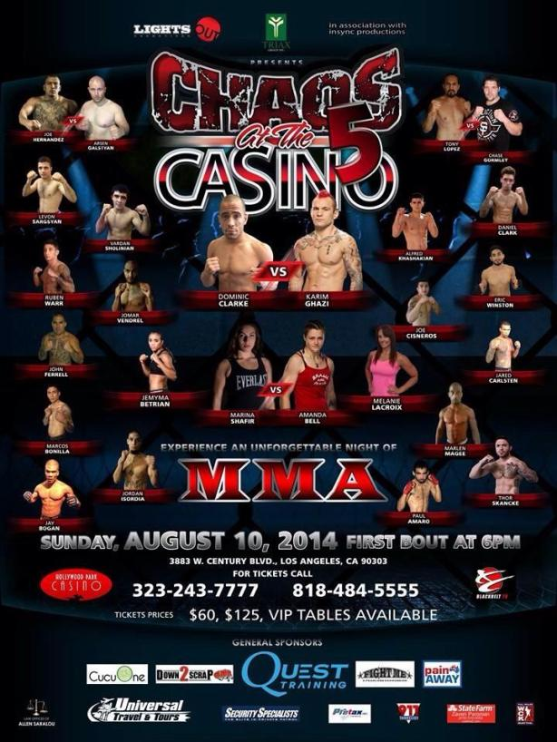 August 10th Hollywood Park Casino
