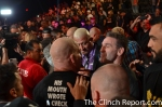 Old Rivals: Shamrock and Tito before they embrace following his win