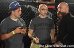 UFC Lightweight Christos Giagos, Ian Harris, and Mike Beltran exchanging gardening ideas....